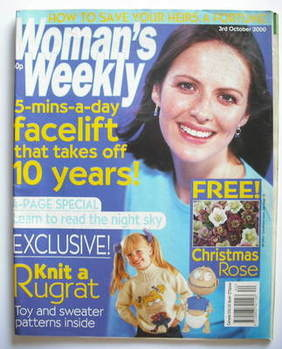 <!--2000-10-03-->Woman's Weekly magazine (3 October 2000)