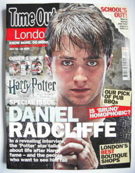Time Out magazine - Daniel Radcliffe cover (16-22 July 2009 - Cover 1 of 3)