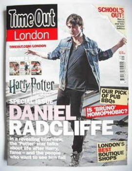 Time Out magazine - Daniel Radcliffe cover (16-22 July 2009 - Cover 2 of 3)