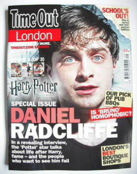 Time Out magazine - Daniel Radcliffe cover (16-22 July 2009 - Cover 3 of 3)