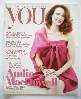 <!--2009-05-31-->You magazine - Andie MacDowell cover (31 May 2009)