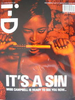 <!--2003-12-->i-D magazine - Naomi Campbell cover (December 2003)
