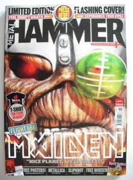 Metal Hammer magazine - Iron Maiden Flashing LED cover (June 2009)