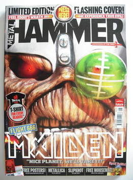 <!--2009-06-->Metal Hammer magazine - Iron Maiden Flashing LED cover (June