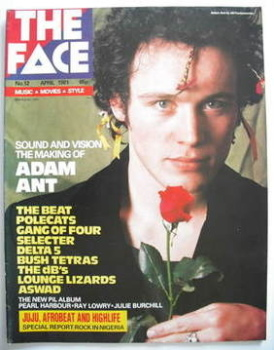 The Face magazine - Adam Ant cover (April 1981 - Issue 12)