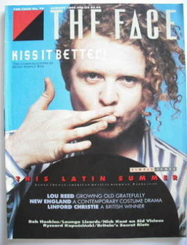 The Face magazine - Mick Hucknall cover (August 1986 - Issue 76)