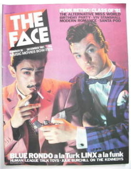 The Face magazine - Blue Rondo A La Turk cover (December 1981 - Issue 20)