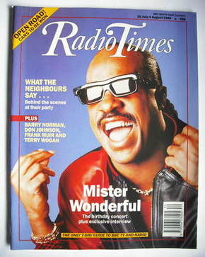<!--1989-07-29-->Radio Times magazine - Stevie Wonder cover (29 July - 4 Au