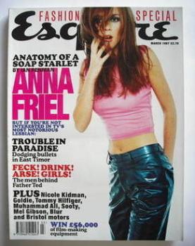 Esquire magazine - Anna Friel cover (March 1997)