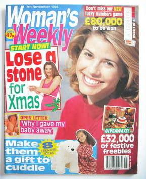 <!--1995-11-07-->Woman's Weekly magazine (7 November 1995)