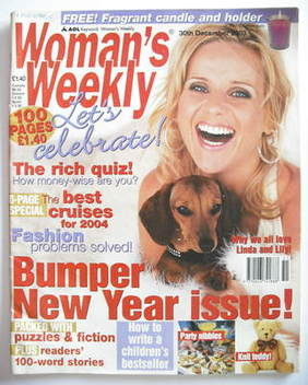 <!--2003-12-30-->Woman's Weekly magazine (30 December 2003 - Linda Barker c