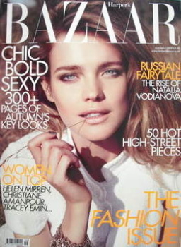 <!--2009-09-->Harper's Bazaar magazine - September 2009 - Natalia Vodianova cover