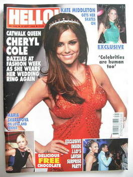 <!--2008-09-30-->Hello! magazine - Cheryl Cole cover (30 September 2008 - I