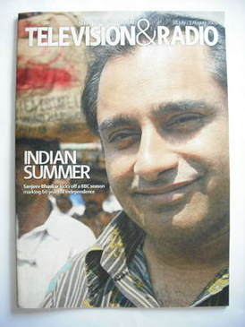 Television&Radio magazine - Sanjeev Bhaskar cover (28 July 2007)