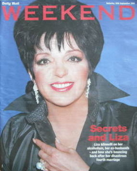 <!--2006-09-30-->Weekend magazine - Liza Minnelli cover (30 September 2006)