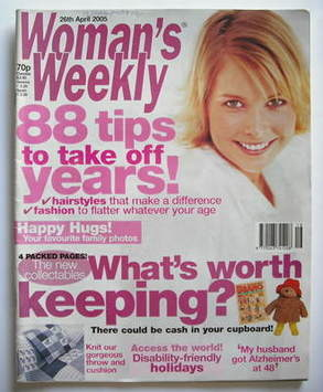 <!--2005-04-26-->Woman's Weekly magazine (26 April 2005 - British Edition)