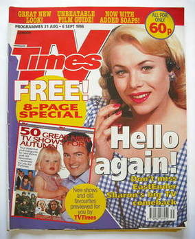 <!--1996-08-31-->TV Times magazine - Letitia Dean cover (31 August-6 Septem