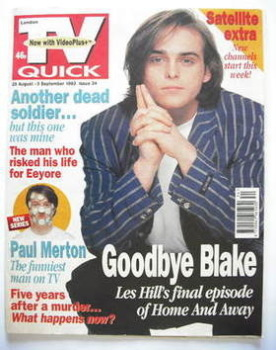 TV Quick magazine - Les Hill cover (28 August - 3 September 1993)