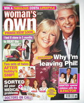 <!--2005-09-12-->Woman's Own magazine - 12 September 2005 - Fern Britton an