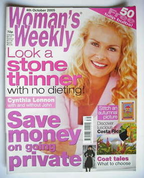 <!--2005-10-04-->Woman's Weekly magazine (4 October 2005 - British Edition)