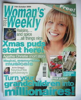 <!--2005-10-11-->Woman's Weekly magazine (11 October 2005 - British Edition