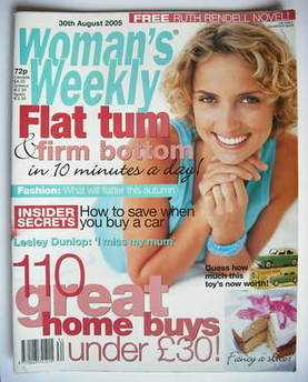 <!--2005-08-30-->Woman's Weekly magazine (30 August 2005)
