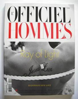 L'Officiel Hommes (Paris) magazine - Jesus Luz cover (May-July 2009)