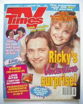 <!--1996-02-10-->TV Times magazine - Sid Owen and Danniella Westbrook cover