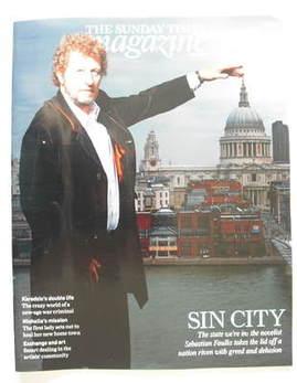 <!--2009-08-23-->The Sunday Times magazine - Sebastian Faulks cover (23 Aug