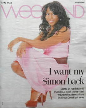 Weekend magazine - Sinitta cover (15 August 2009)