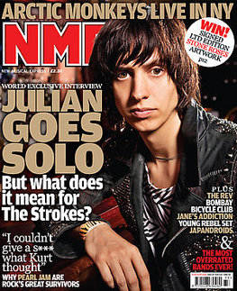 <!--2009-08-15-->NME magazine - Julian Casablancas cover (15 August 2009)