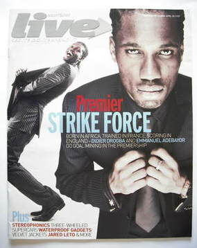 <!--2007-04-29-->Live magazine - Didier Drogba and Emmanuel Adebayor cover