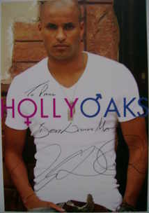 Ricky Whittle autograph (ex Hollyoaks actor)