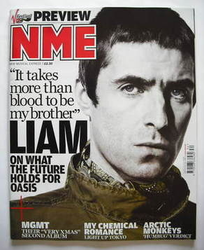 <!--2009-08-22-->NME magazine - Liam Gallagher cover (22 August 2009)