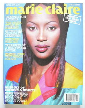 British Marie Claire magazine - April 1993 - Naomi Campbell cover