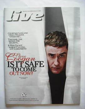 Live magazine - Steve Coogan cover (23 August 2009)