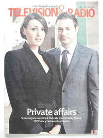 Television&Radio magazine - Suranne Jones and Paul Nicholls cover (12 July