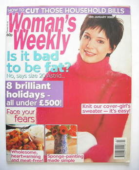 <!--2000-01-18-->Woman's Weekly magazine (18 January 2000)