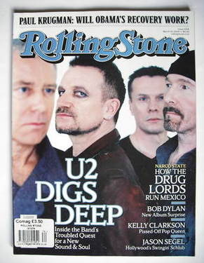 Rolling Stone magazine - U2 cover (19 March 2009)