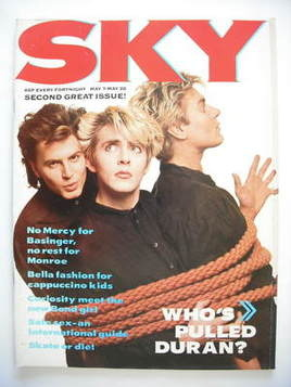 <!--1987-05-->Sky magazine - Duran Duran cover (7-20 May 1987 - No 2)