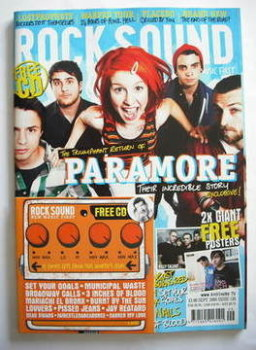 Rock Sound magazine - Paramore cover (September 2009)