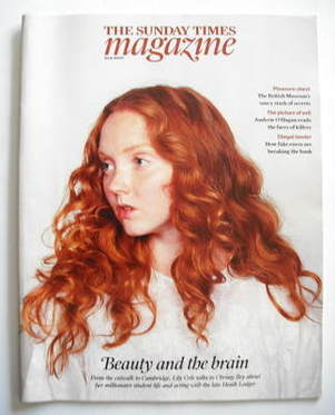 <!--2009-08-30-->The Sunday Times magazine - Lily Cole cover (30 August 200