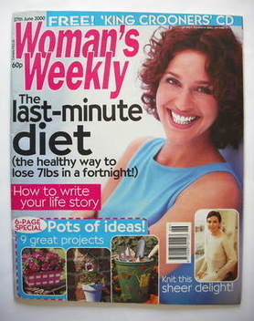 <!--2000-06-27-->Woman's Weekly magazine (27 June 2000)