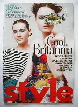 <!--2009-09-06-->Style magazine - Cool Britannia cover (6 September 2009)