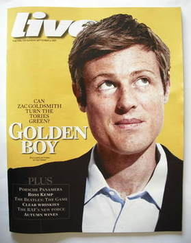 <!--2009-09-06-->Live magazine - Zac Goldsmith cover (6 September 2009)
