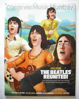 The Observer Music Monthly magazine - September 2009 - The Beatles cover