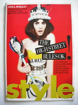 <!--2009-08-30-->Style magazine - The High Street Rules OK! cover (30 Augus