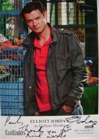 Elliott Jordan autograph (ex EastEnders actor)