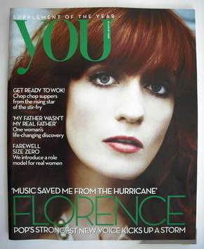 <!--2009-08-30-->You magazine - Florence Welch cover (30 August 2009)