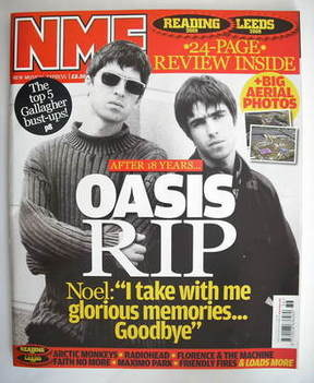 <!--2009-09-05-->NME magazine - Oasis cover (5 September 2009)